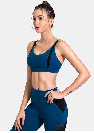 VERXE AUTUMN SHOOTER ACTIVE YOGA SET - BLUE