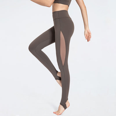 VERXE AUTUMN SHAYNA ACTIVE MESH YOGA LEGGINGS - GREY