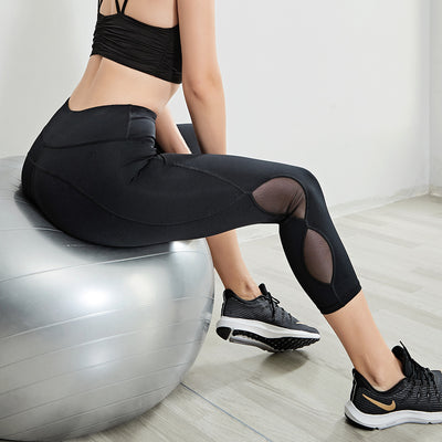 VERXE AUTUMN MESH SOHA YOGA LEGGINGS - BLACK
