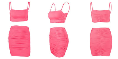 VERXE HANNAH ACTIVE BODYCON DRESS - NEON PINK
