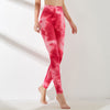 VERXE COLOR HIGH WAIST PUSH UP LEGGINGS - PINK RED - The Verxe - A Lifestyle Brand