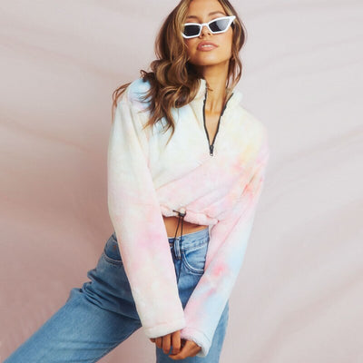 VERXE TIE DYE OLIVIA ACTIVE CROP JUMPER - The Verxe - A Lifestyle Brand