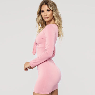 VERXE LUNA MIDI FASHION DRESS - PINK
