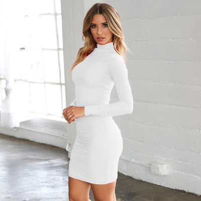 VERXE STELLA BODYCON DRESS - WHITE