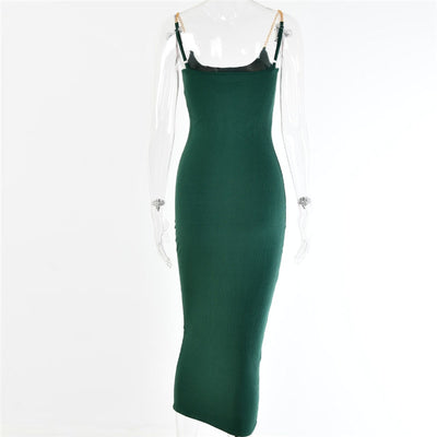 VERXE AVERY MIDI BODYCON DRESS - GREEN - The Verxe - A Lifestyle Brand