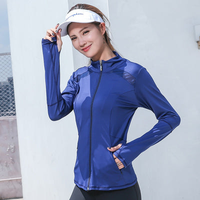 VERXE ELLA ACTIVE SPORTS JACKET - BLUE - The Verxe - A Lifestyle Brand