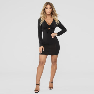 VERXE LUNA MINI DRESS - BLACK - The Verxe - A Lifestyle Brand