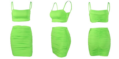 VERXE HANNAH ACTIVE BODYCON DRESS - NEON GREEN