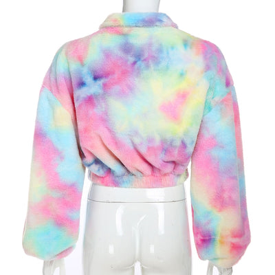 VERXE TIE DYE SOPHIA ACTIVE CROP JUMPER - The Verxe - A Lifestyle Brand