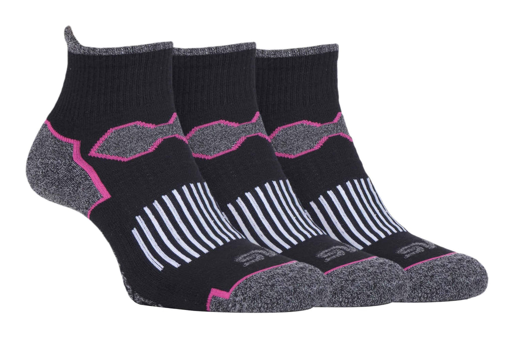 3er Pack Ladies Quarter Laufsocken - myhoody