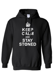 Männer Pullover Hoodie | Keep Calm And Stay Stoned - myhoody
