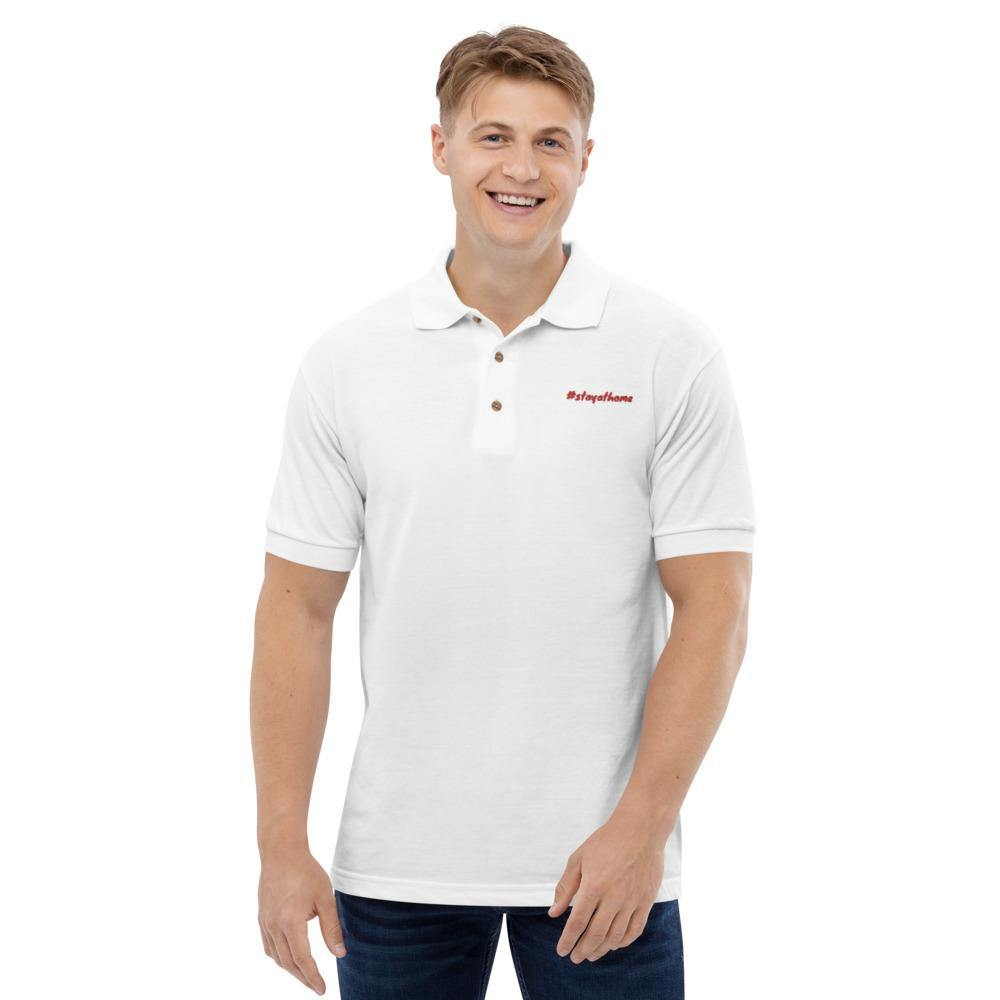 Besticktes Polo-Shirt | #stayathome - myhoody