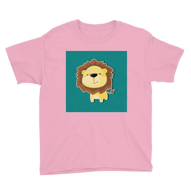 Kurzärmeliges T-Shirt für Teenager - Löwe - myhoody