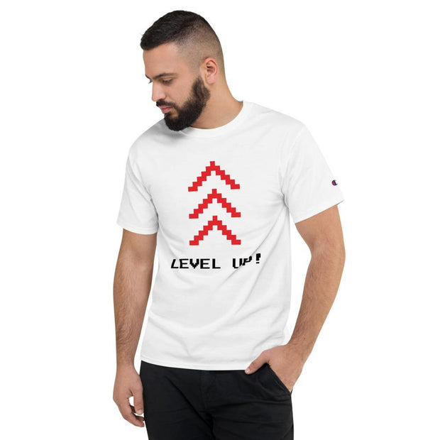 Herren-Champion-T-Shirt - Level Up! - myhoody