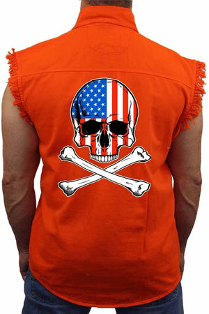 Men's USA Flag Skull - myhoody