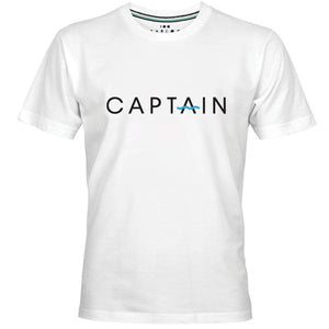 CAPTAIN LOGO PRINT MEN T-SHIRT - myhoody