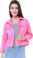 SupaStyle Self Design Plan Women Cotton Jacket (Pink)