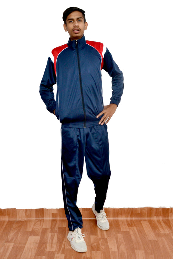 SupaStyle Superb Striped Tracksuit for Men/Ideal for Casual WEAR & Sports (Royal Blue)