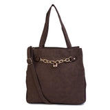 SupaStyle/PU Leather Handbag for Girls/Women (Brown)