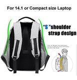 Anti Theft Waterproof Business Travel Laptop Bag with USB Cable and Built in Charging Port - Supastyle