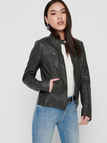 ONLBANDIT FAUX LEATHER BIKER OTW NOOS