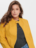 CARMELANIE FAUX LEATHER JACKET