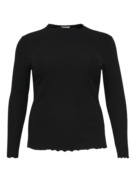 CARALLY L/S HIGH NECK TOP