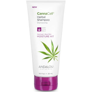 Andalou Naturals CannaCell Herbal Shampoo Moisture Hit Patchouli & Basil Mint