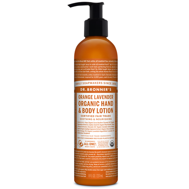 Dr. Bronner's Organic Lotion For Hands and Body Orange Lavender