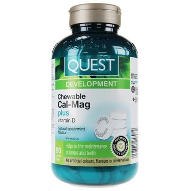 Quest Chewable Cal-Mag - Spearmint 90 tablets