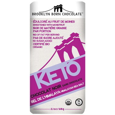 Brooklyn Born Chocolate Himalayan Sea Salt Keto Chocolate 60g