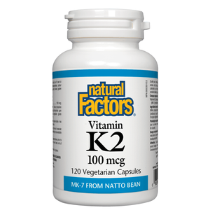Natural Factors Vitamin K2  100mcg
