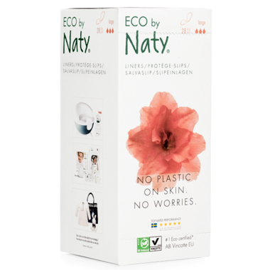 Eco by Naty Panty Liners Large, 28 pcs