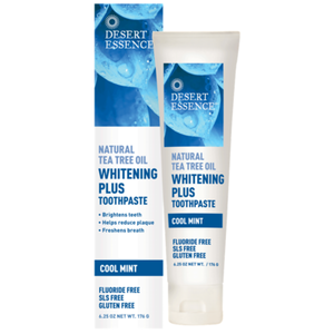 Desert Essence Whitening Plus Toothpaste with Tea Tree Oil 176g