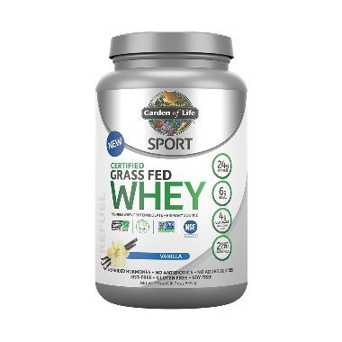 Garden of Life SPORT Certified Grass Fed Whey Vanilla