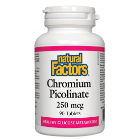 Natural Factors Chromium Picolinate 250mcg 90 Tablets