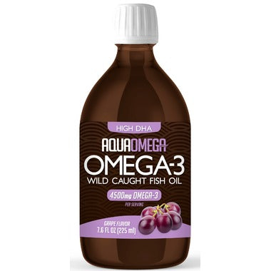 AquaOmega Omega-3 Fish Oil High DHA Grape