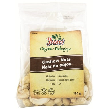 Inari Organic Whole Cashew Nuts 150g