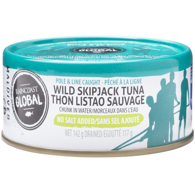 Raincoast Global Wild Skipjack Tuna No Salt Added