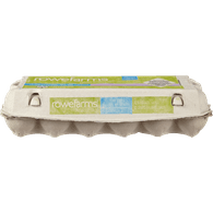 ROWE FARMS Greenvalley Free Run Brown Eggs, Large, 1 dozen