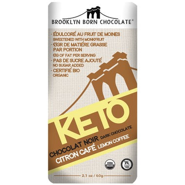 Brooklyn Born Chocolate Lemon Coffee Keto Chocolate  60g