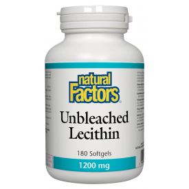 Natural Factors Unbleached Lecithin 1200mg 180 Softgels
