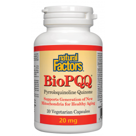 Natural Factors BioPQQ 30 Veggie Caps