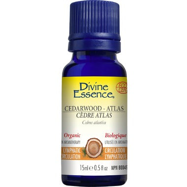 Divine Essence Atlas Cedarwood Organic Essential Oil 15mL