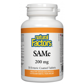 Natural Factors SAMe 200mg 30 Tablets