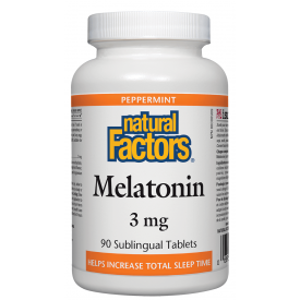 Natural Factors Melatonin 3mg Peppermint 90 Tablets