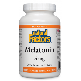 Natural Factors Melatonin 5mg Sublingual 90 Tablets
