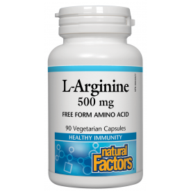 Natural Factors L-Arginine 500mg 90 Capsules