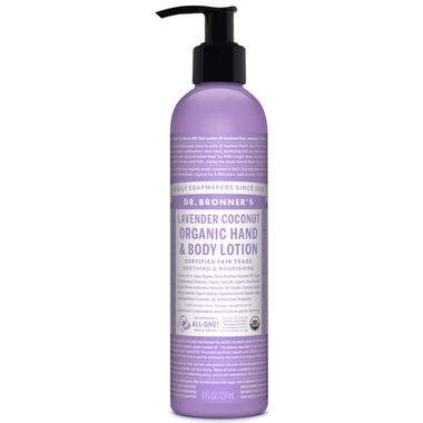 Dr. Bronner's Organic Lotion For Hands and Body Lavender Coconut