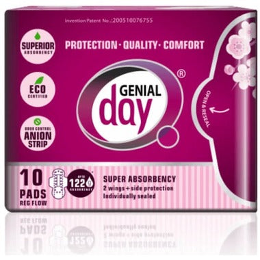 Genial Day Regular Flow Pads, 10 pads
